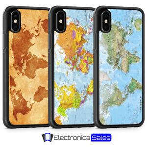 Dettagli su MAPPA DEL MONDO TERRA GLOBO VINTAGE Telefono Custodia Per iPhone XS XR 8 X 7 6 6S 5 5S SE- mostra il titolo originale