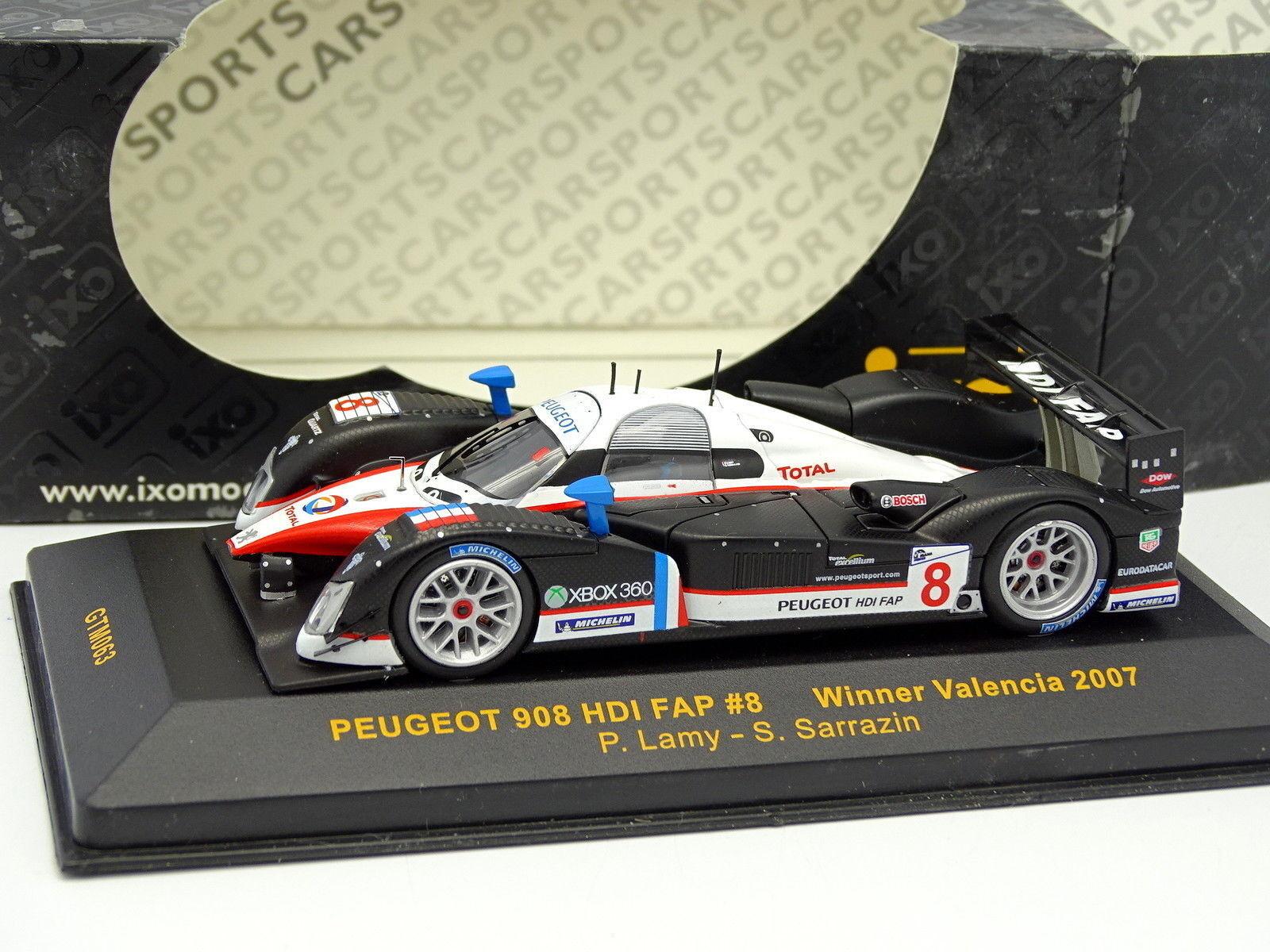 Ixo 1 43 - Peugeot 908 908 908 HDI FAP N°8 Winner Valencia 2007 7fb7e8