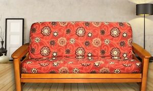 Image Is Loading New Modern Swirls Amp Flowers Futon Cover Full