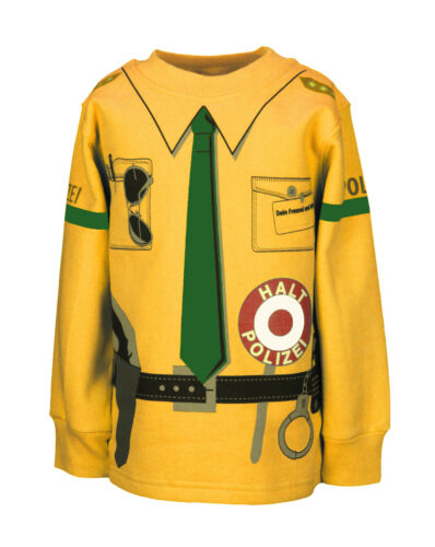 Bambini Uniform Felpa polizia GIALLO VERDE 92//98 a 140//146