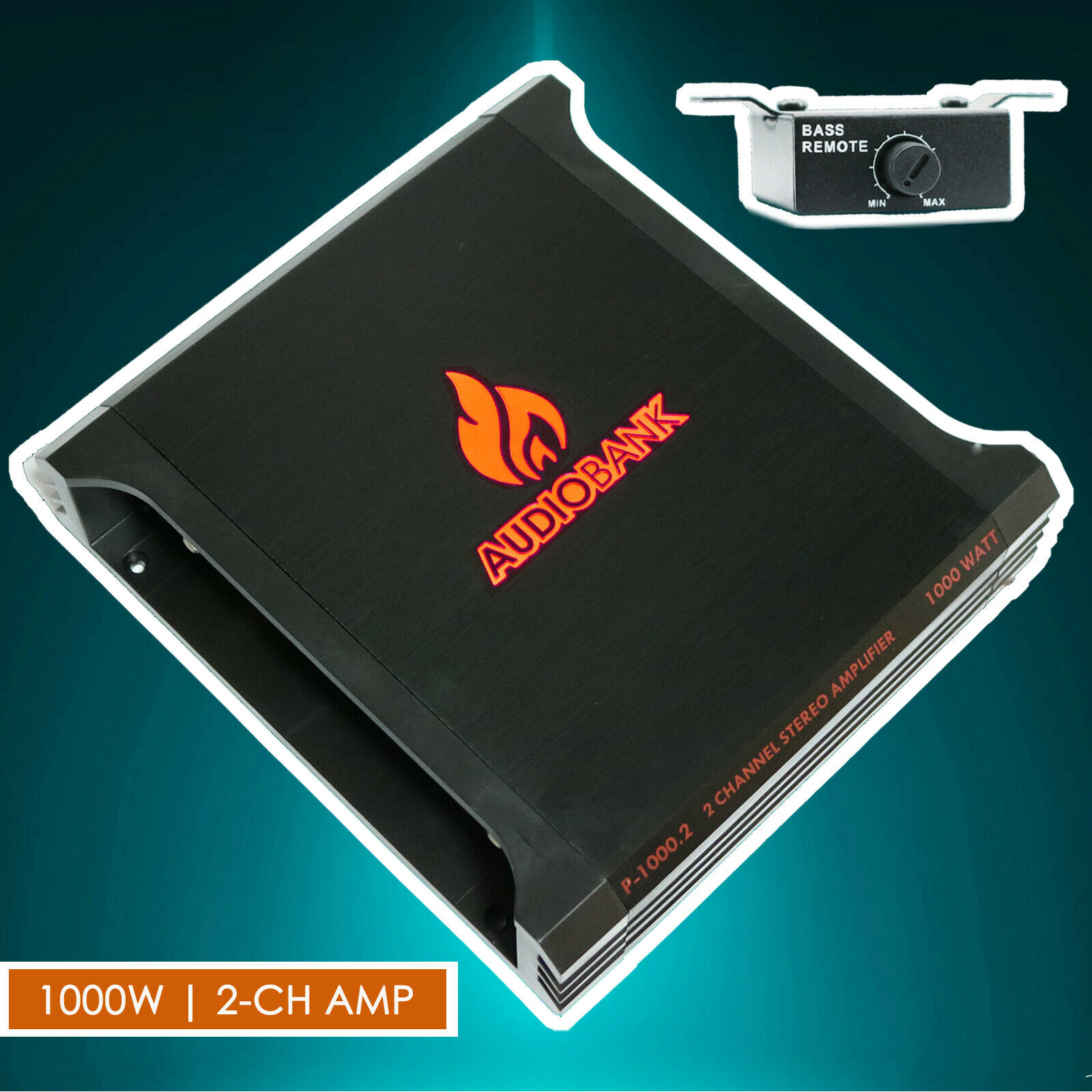 AUDIOBANK P1500.1 1500W 2-Ohm Stable 2 Channel Stereo Amplifier