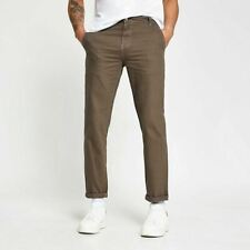 River Island Mens Beige Casual Carpenter Chinos