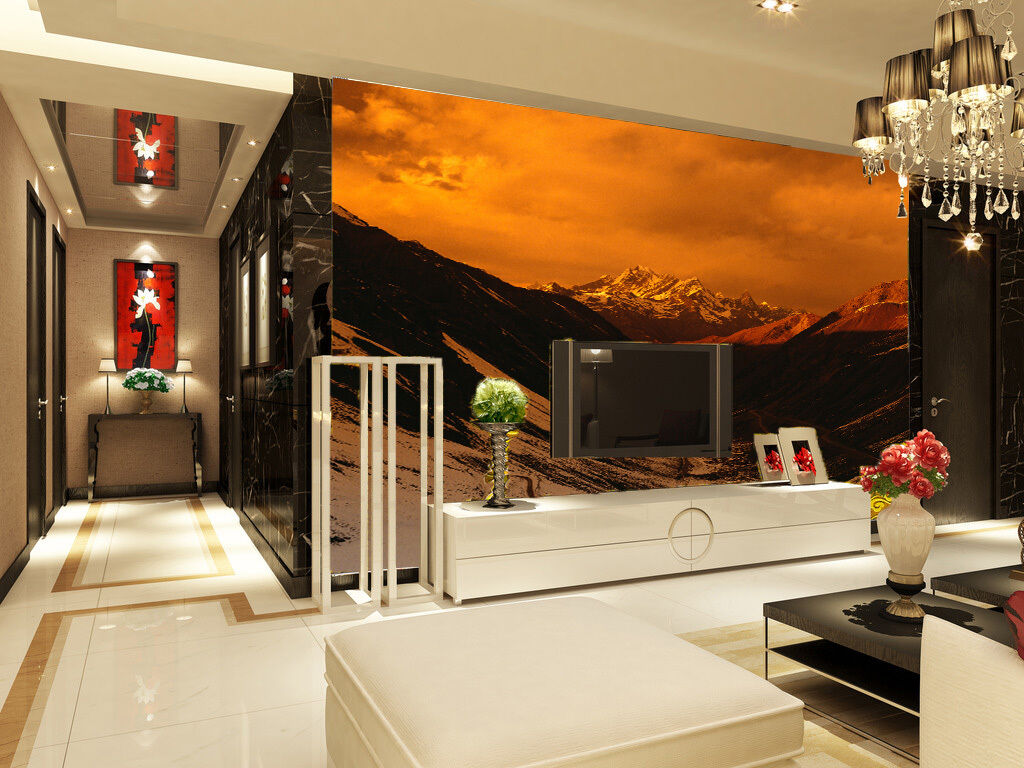 3D Sunset Snow Mountain 262 Paper Wall Print Wall Decal Wall Deco Indoor Murals