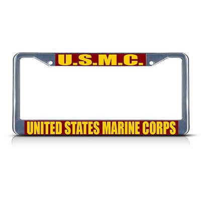 US Marine Corps Alumni Chrome License Plate Frame