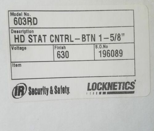 LOCKNETICS IR Security HD STAT Control Button 603RD Access Exit Stainless