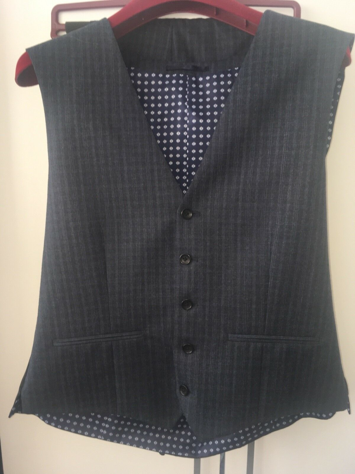 Mens NEXT 3 piece navy suit 38