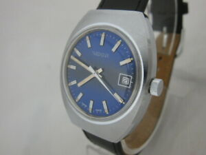 NOS-NEW-SWISS-MECHANICAL-HAND-WINDING-NIDOR-MEN-039-S-ANALOG-WATCH-WITH-DATE-1960-039-S