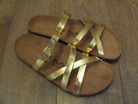 Betula By Birkenstock Sandals Gold Metallic Uk 4.5