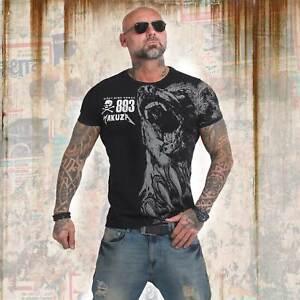 Neues-Yakuza-Herren-Beast-T-Shirt-Schwarz
