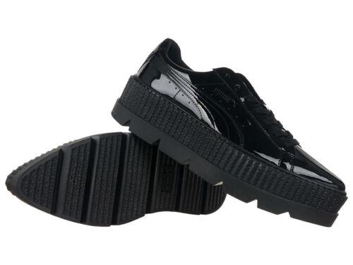 Zapatillas Mujeres Rihanna brillantes Puma Zapatos Plataformas Patentes Creeper superiores Pointy xY4rIY