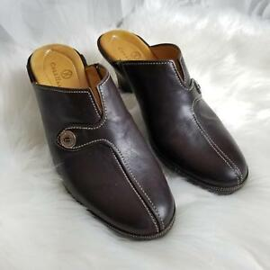 Cole-Haan-Women-039-s-Mule-Clog-Shoes-Size-6-5B-Slip-On-Open-Back-Leather-Dark-Brown