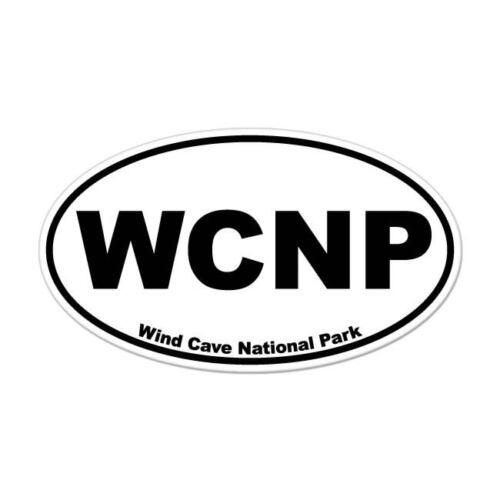 "Wind Cave National Park oval car window bumper sticker decal 5/"" x 3/"""