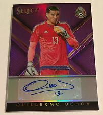 """2015 Select Guillermo """"Memo"""" Ochoa Auto #'d 24/25 Purple Prizm Mexico Malaga"""