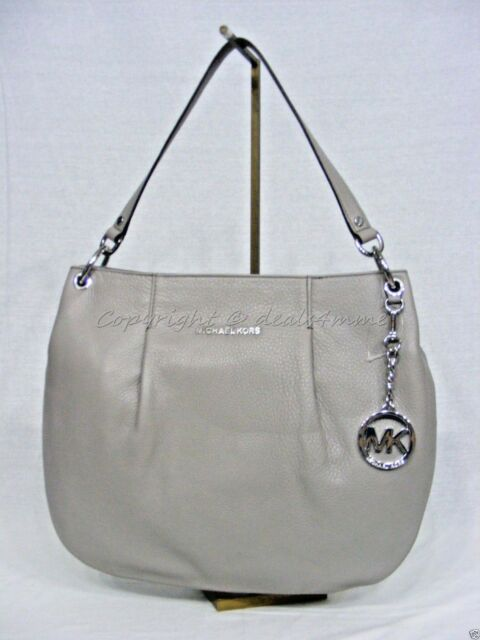 3790d81daecc ... top quality nwt michael michael kors bedford large convertible shoulder  bag in pearl grey 6027e 1c66a