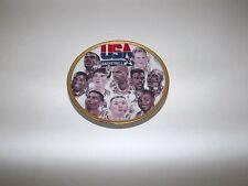 "4 1/2"" Plate 1992 NBA Dream Team  Jordan, Bird, Magic, Pipen Olympic  Vintage"