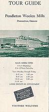 c1965 Pendleton Woolen Mills, Pendleton Oregon Tour Guide Illustrated Flyer