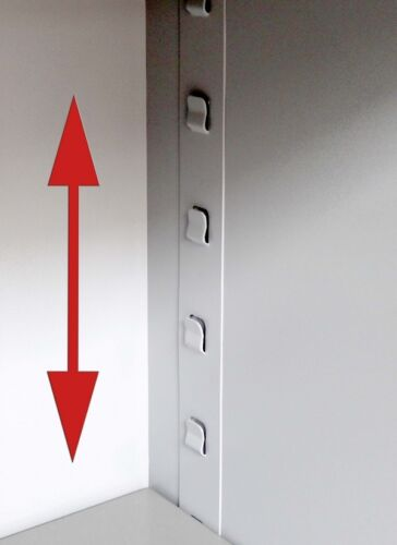 lichtgrau Stahlschrank PICO mit 4 Böden zum Aktionspreis Video Metallschrank