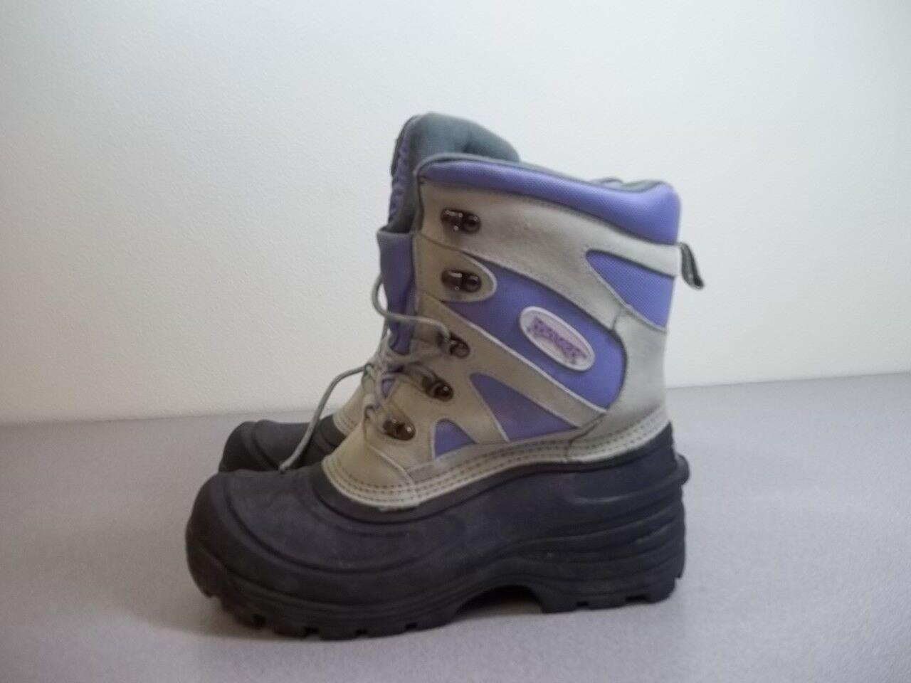 Ranger Cálido Impermeable Invierno botas Nieve Con Cordones Púrpura Para Mujer