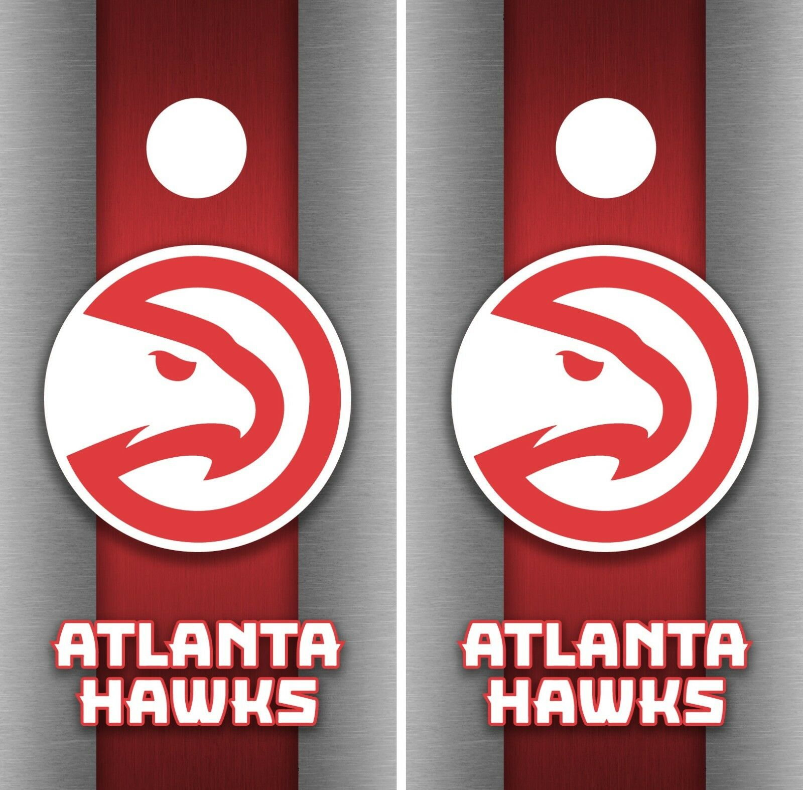 Atlanta Hawks Cornhole Wrap NBA Game Board Skin Set Vinyl Decal Decor CO556