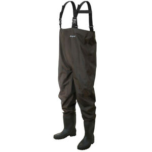 Frogg Toggs Rana II PVC Chest Wader (Cleated) Size 12 Brown