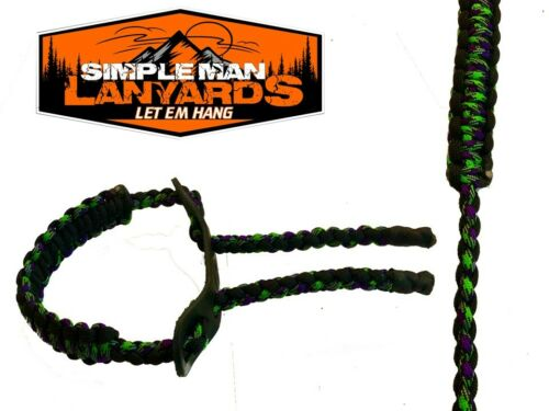 Paracord Bow Wrist Sling Black and Zomb