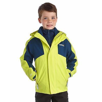 Regatta Greenhill II Kids Waterproof Jacket Girls /& Boys Multi Colours