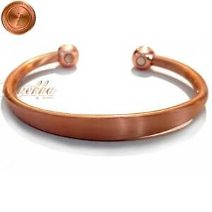Cu-Bio-PURE-COPPER-MAGNETIC-BRACELET-BANGLE-MEN-WOMEN-VTG-FIN-ARTHRITIS-CB09A