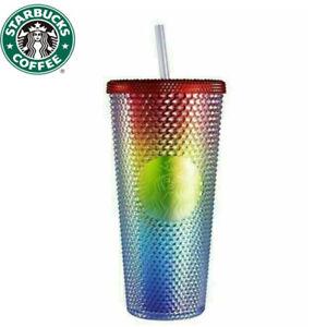 China Starbucks Rainbow Bling Shinning Diamond Studded Tumbler Straw Cup 2021