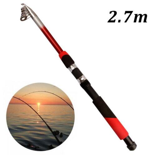 Epoxidharz Sea Rod Fiberglas Tragbare Angelrute Glasfaser Reise See Angelrute je
