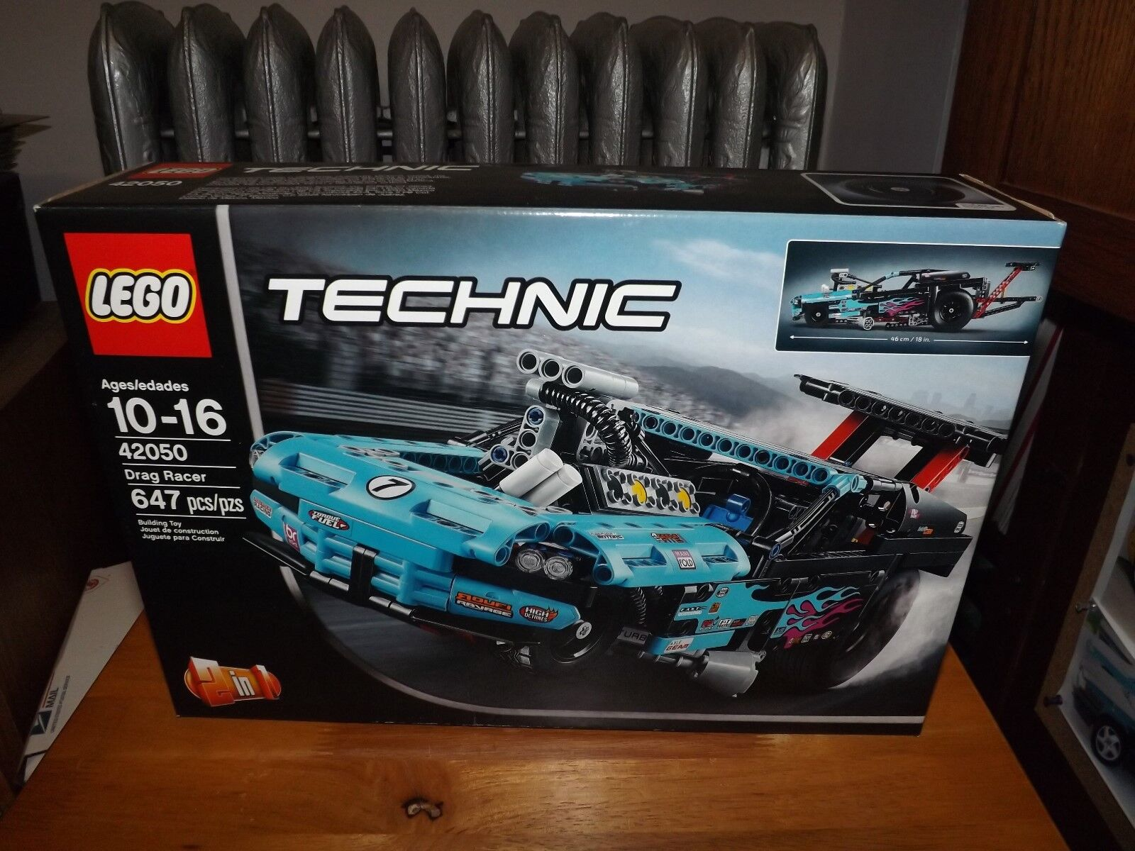 LEGO, TECHNIC, DRAG RACER, KIT  42050, 647 PIECES, NEW IN BOX, 2016