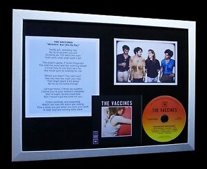 THE-VACCINES-Wreckin-039-Bar-LTD-TOP-QUALITY-CD-FRAMED-DISPLAY-EXPRESS-GLOBAL-SHIP