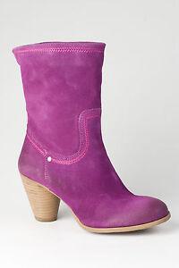 Bronx Stiefel Stiefelette Boots Damen Pilot Magenta Echtleder NEU