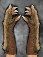 Brown Werewolf Wolf Claws Hands Scary Zagone Adult Halloween Costume Gloves