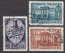 RUSSIA SU 1948(1956) USED SC#1299/1301 II Typ 1956, 16th Chess Championship.
