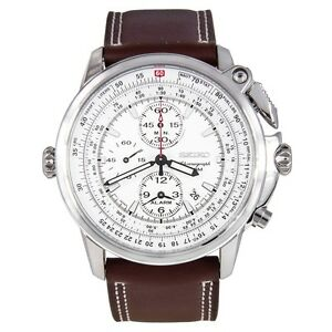 Seiko-SNAB71-Chronograph-Quartz-White-Dial-Brown-Leather-Band-Mens-Watch
