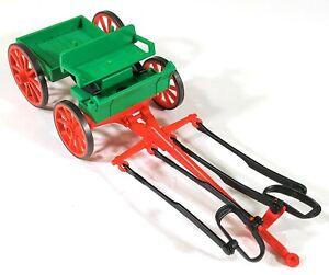 Vintage-Playmobil-3804-Western-Buckboard-Farm-Wagon-F665
