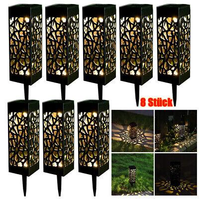 8x LED Solarlampe Gartenlampe Außenlamp Solarleuchte Beleuchtung Leuchte Laterne