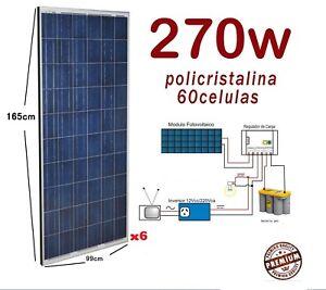 Placa Solar a 1620W (270x6) Fotovoltaica Panel solar 60 celulas para 12v 24v 48v