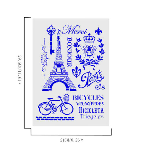 tower bicycle layering stencils for wall painting scrapbooking stamp album HC