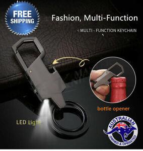Style-Metal-LED-Car-Keyring-Keychain-Key-Chain-Ring-Christmas-Gift-Fashion-Men-039-s