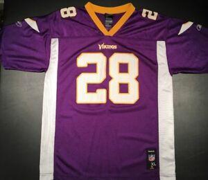 best service fe3e5 7d91f Details about Adrian Peterson Reebok Minnesota Vikings Jersey Youth XL Size  18-20