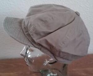 Unisex-Visor-Newsboy-Hat-Cap-Men-Women-Beige
