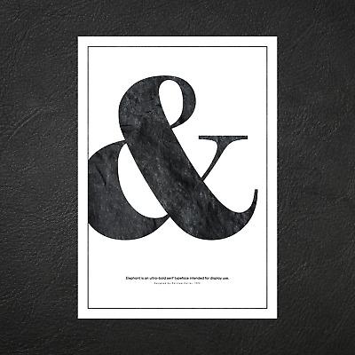 A5 A4 A3 A2 A1 Ampersand Typography Designer Poster Wall Art Decor Print