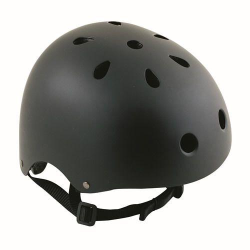 BICYCLE CYCLE BIKE BMX SKATEBOARD SKATE MATT BLACK HELMET - LARGE 58-61cm