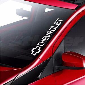CHEVROLET Car Windscreen Sticker Camaro Corvette Tahoe Rear Window - Car rear window stickers