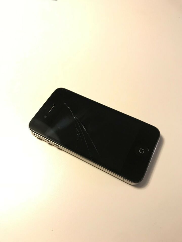 iPhone 4, 8 GB, sort