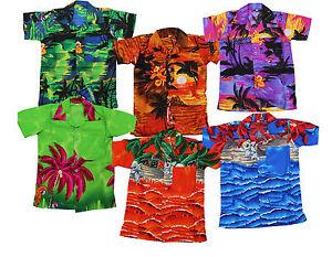 gama muy codiciada de buscar auténtico los mejores precios Detalles de Camisa Hawaiana Fiesta playa niño niña infantil Palmera Disfraz