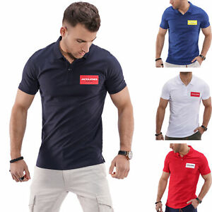 Jack-amp-Jones-Hommes-Poloshirt-Polo-Manches-Courtes-Shirt-T-Shirt-Shirt-Chemise-Top