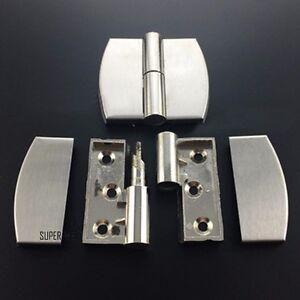2 X Steel Self Close Stay Hinge Auto Spring Cabinet Door Bathroom Adjustable New