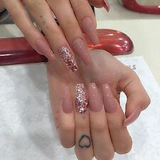 500 Pcs Coffin Shape Nails Natural Ballerina Nail Tips Full Cover Acrylic False